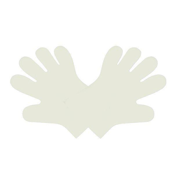Перчатки белые из кукурузного крахмала, размер М, в пачке 100 шт