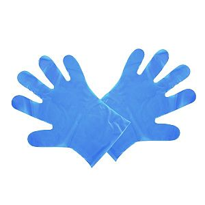 Food prep gloves, medium, blue, 100 pcs per pack