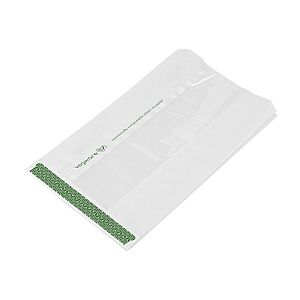Glassine bag with NatureFlex window (152 x 215 x 254 mm), 500 pcs per pack