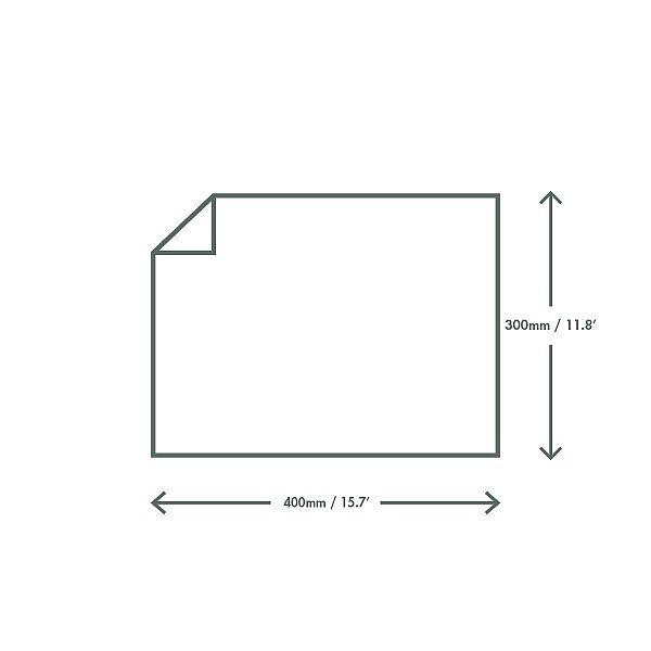 Tauku izturīgs papīrs ēdiena iepakošanai, 300 х 400 mm, iesaiņots 1000 gabali