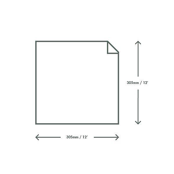 Waxed kraft deli sheets (304 x 304 mm), 1000 pcs per pack