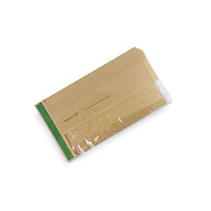 150x60x280mm kraft greaseproof PLA window bag, 1000 pcs, 1000 pcs per pack