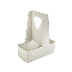 Переносной держатель для 2-х стаканов из крафт-картона, в пачке 250 шт