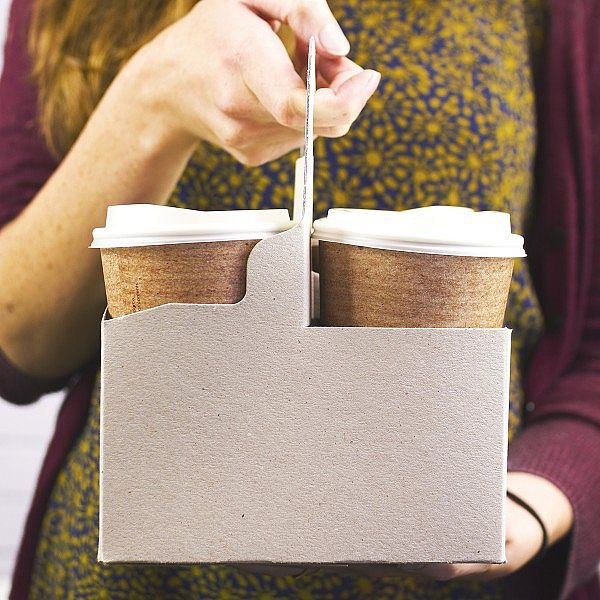 4-cup handled carrier, 200 pcs per pack