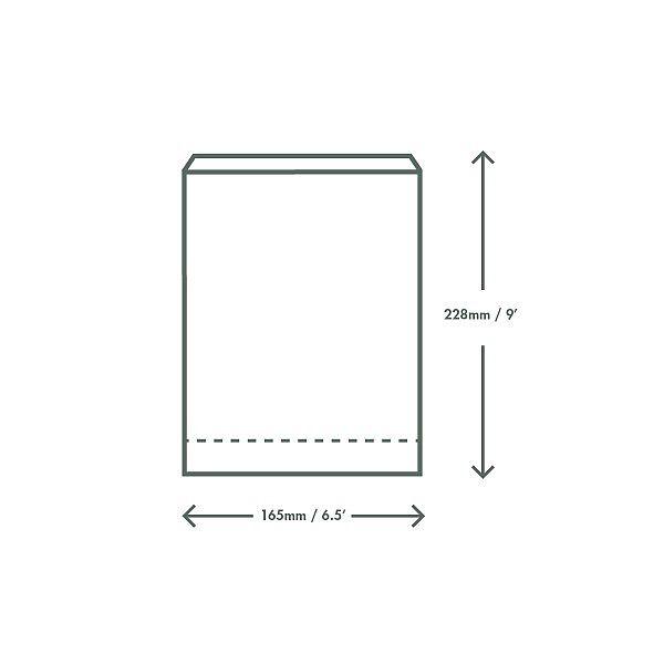 Kuumakott kraft paberist, (15 x 8 x 23 cm), pakis 500 tk