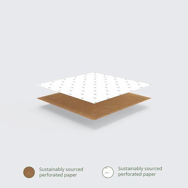 Iepakojums roliem un kebabiem no perforēta kraft papīra, 203 x 228 x 254 mm, iesaiņots 500 gabali