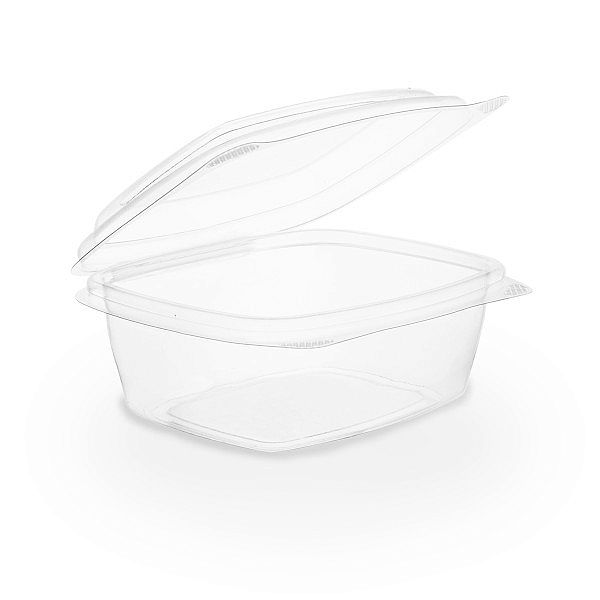 Hinged deli container, PLA, 240 ml, 50 pcs per pack