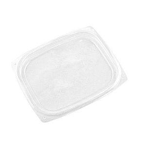 Rectangular deli lid, PLA (fits 240-480 ml deli), 75 pcs per pack