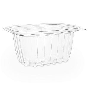 Rectangular deli container, PLA, 480 ml, 75 pcs per pack