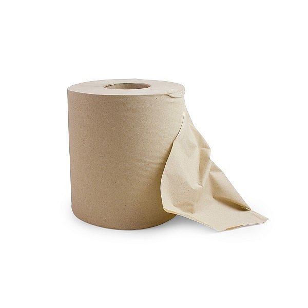2-ply kraft centrefeed roll (19.5 x 150m), brown, 6 pcs per pack