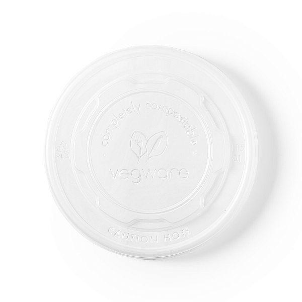 Плоская крышка из кукурузного крахмала, подходит для круглых контейнеров из бумаги, серия 115, в пачке 50 шт