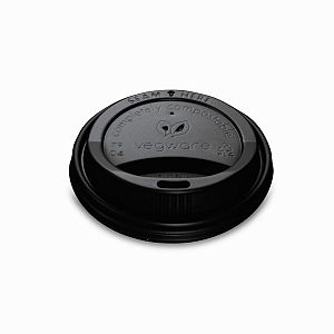 CPLA lid for hot cup, black, 79-series, 50 pcs per pack