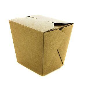 Коробка для лапши из крафт-картона, 960 мл, в пачке 400 шт