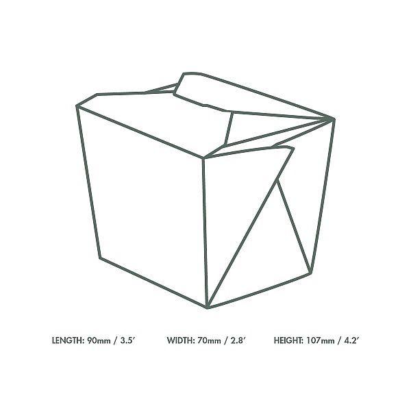 Nuudlikarp kraft paberist, 960 ml, pakis 400 tk