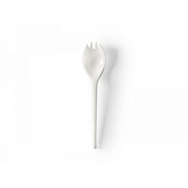 Recycled compostable RCPLA spork, 127 mm, 50 pcs per pack