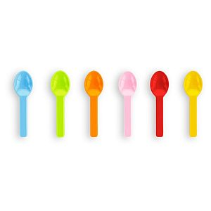 Tutti frutti ice cream spoons, PLA, 76 mm, 100 pcs per pack