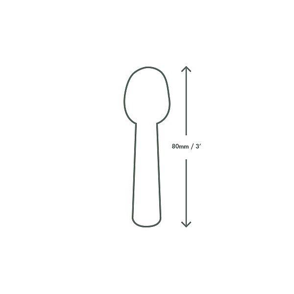 Tutti frutti ice cream spoons, PLA, 76 mm, 100 pcs per pack