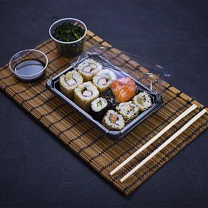 Комплект для суши №2 из кукрузного крахмала, 175 x 125 x 40 мм, в пачке 300 шт