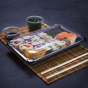 Комплект для суши №4 из кукрузного крахмала, 245 x 150 x 40 мм, в пачке 300 шт
