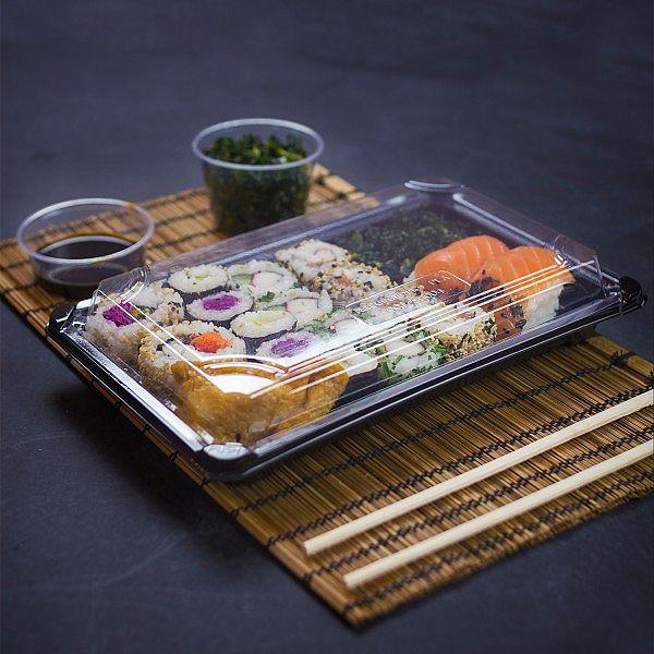 Sushi combo koos kaanega Nr.4, PLA, (24,5 x 15 x 4 cm), pakis 300 tk