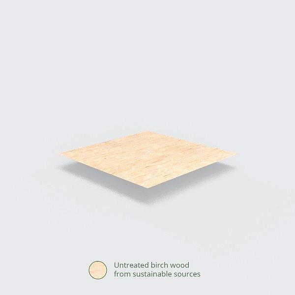 Koka karote, 152 mm, iesaiņots 100 gabali