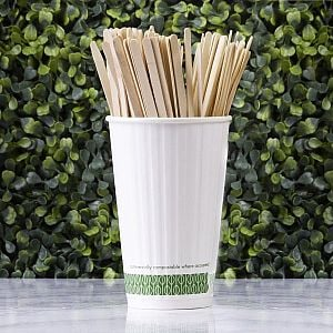 Wooden stirrer, 19,05 cm, 500 pcs per pack