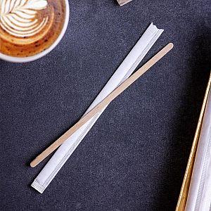 Деревянная палочка, отдельно упакованная в бумагу, 190,5 мм, в пачке 1000 шт