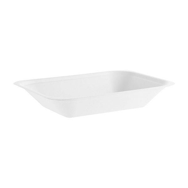Тарелка для закусок из сахарного тростника, 175 x 130 x 32, в пачке 50 шт