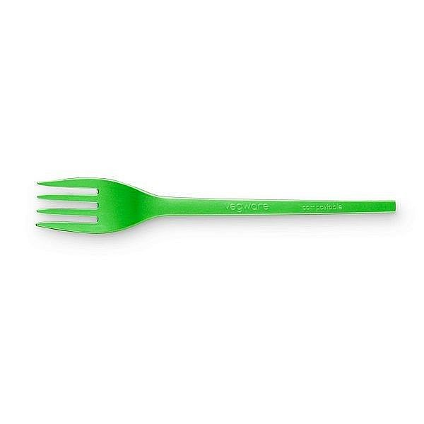 Recycled compostable CPLA fork, 157 mm , 50 pcs per pack