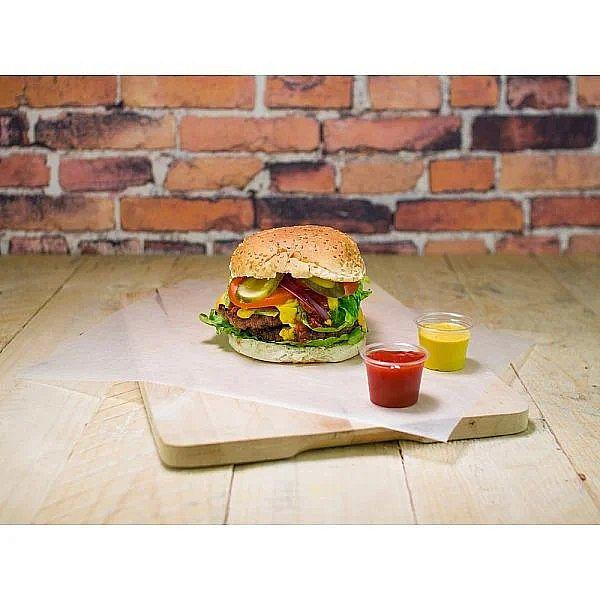 """Vaskots tauku izturīgs papīrs """"Green Tree"""" burgeriem no pārstrādātām izejvielām, 250 x 330 mm, iesaiņots 1000 gabali"""