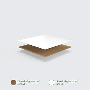Kastīte ar rokturiem no kraft papīra, 225 x 95 x 120 mm, iesaiņots 125 gabali