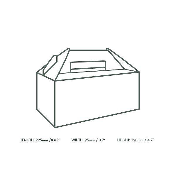 Standardne kandekarp (22.5 x 9.5 x 12 cm), pakis 125 tk