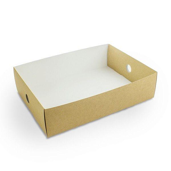 Вкладыш с жиростойким покрытием для многофункциональной коробки из крафт-картона , 115 x 255 x 80 мм, в пачке 50 шт