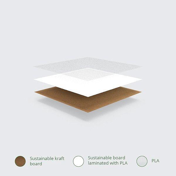 Daudzfunkcionāla kārba no kraft papīra ar izvirzāmu ieliktni, 450 x 300 x 82 mm, iesaiņots 25 gabali