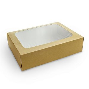 Regular sandwich platter box & insert (31 x 22.5 x 8.2 cm), 50 pcs per pack