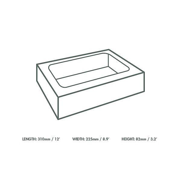 Regular sandwich platter box & insert (31 x 22.5 x 8.2 cm), 50 pcs per pack