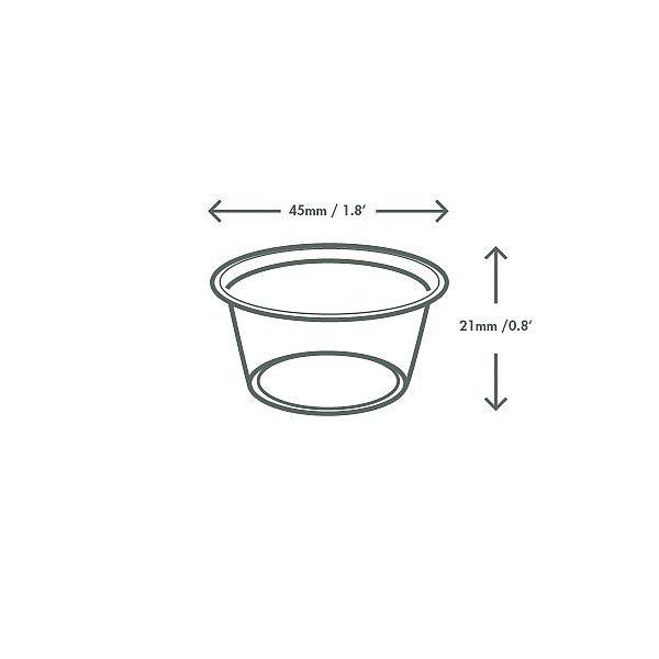 Cold portion pot, PLA, 15 ml, 100 pcs per pack