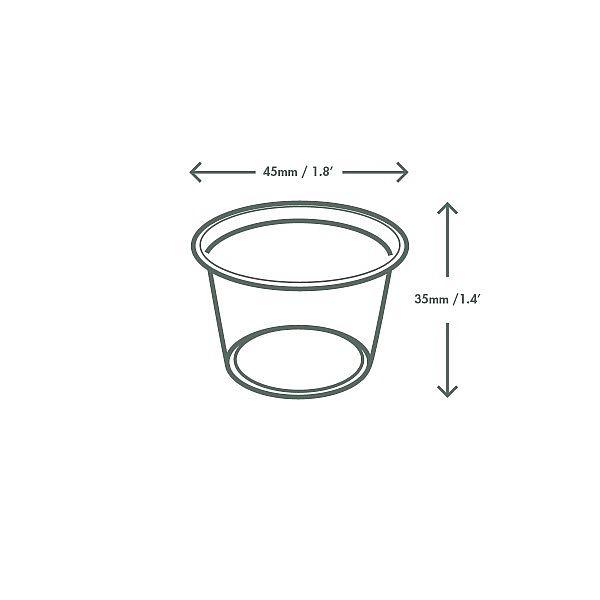 Cold portion pot, PLA, 30 ml, 100 pcs per pack