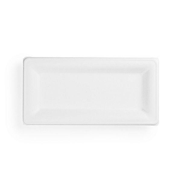 Прямоугольная тарелка из сахарного тростника, 254 x 127 мм, в пачке 50 шт