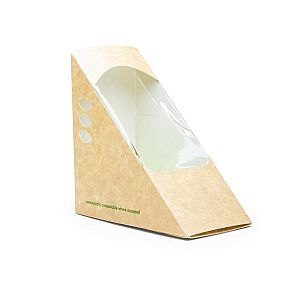 "Triangle for sandwich packaging ""Standard"", 65 mm, kraft paper, 65 mm, 500 pcs per pack"