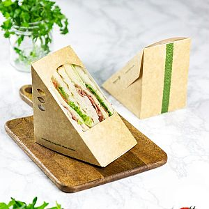 Triple sandwich wedge, kraft paper, 85 mm, 500 pcs per pack