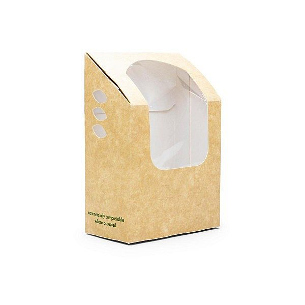 Compostable tortilla / wrap kraft carton, 500 pcs per pack