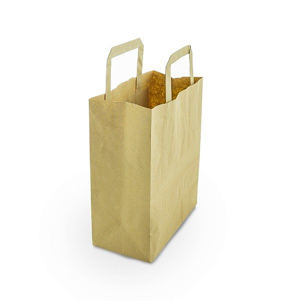Small recycled paper carrier bag, 500 pcs per pack