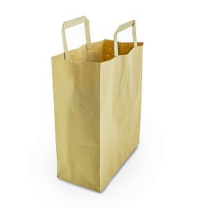 Medium recycled paper carrier bag, 250 pcs per pack