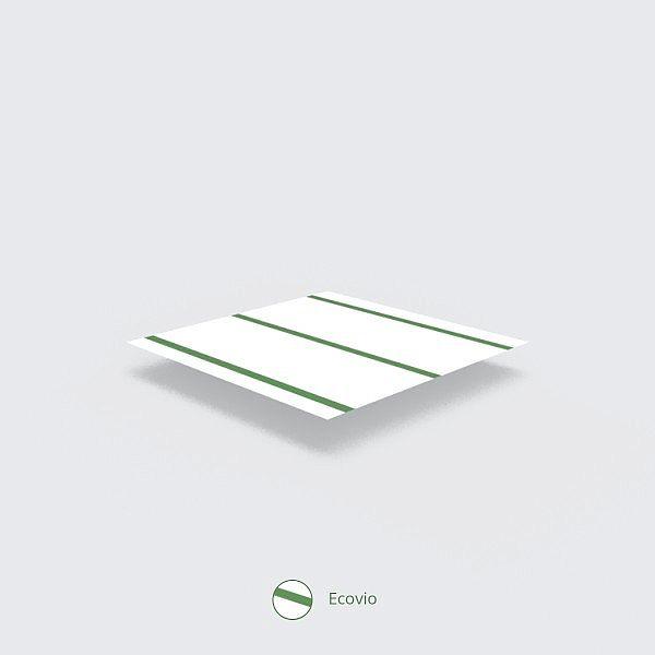 """Salmiņš """"Standard"""" no kukurūzas cietes, balts ar zaļu ecovio svītru, 5 mm, iesaiņots 650 gabali"""